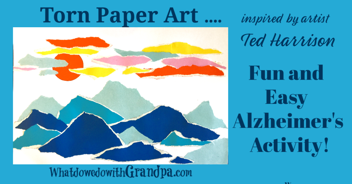 Torn Paper Art inspired by Ted Harrison