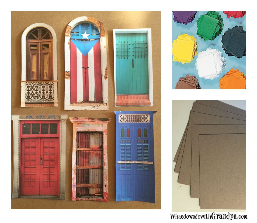 supplies for TIssue Paper Background Door Project