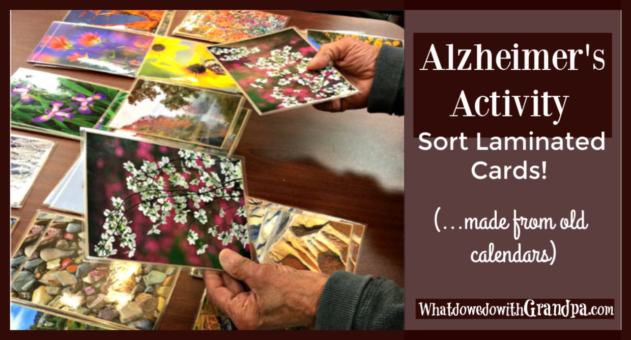 Sorting Laminated Cards: Alzheimer's Activity