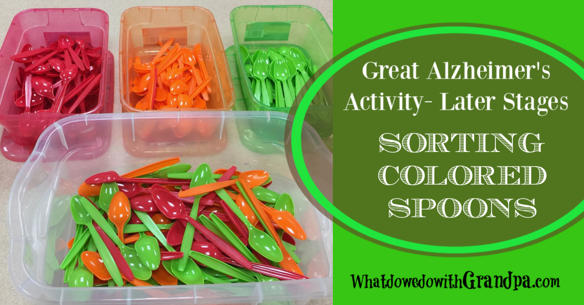 Spoon Sorting: Alzheimer's Activity
