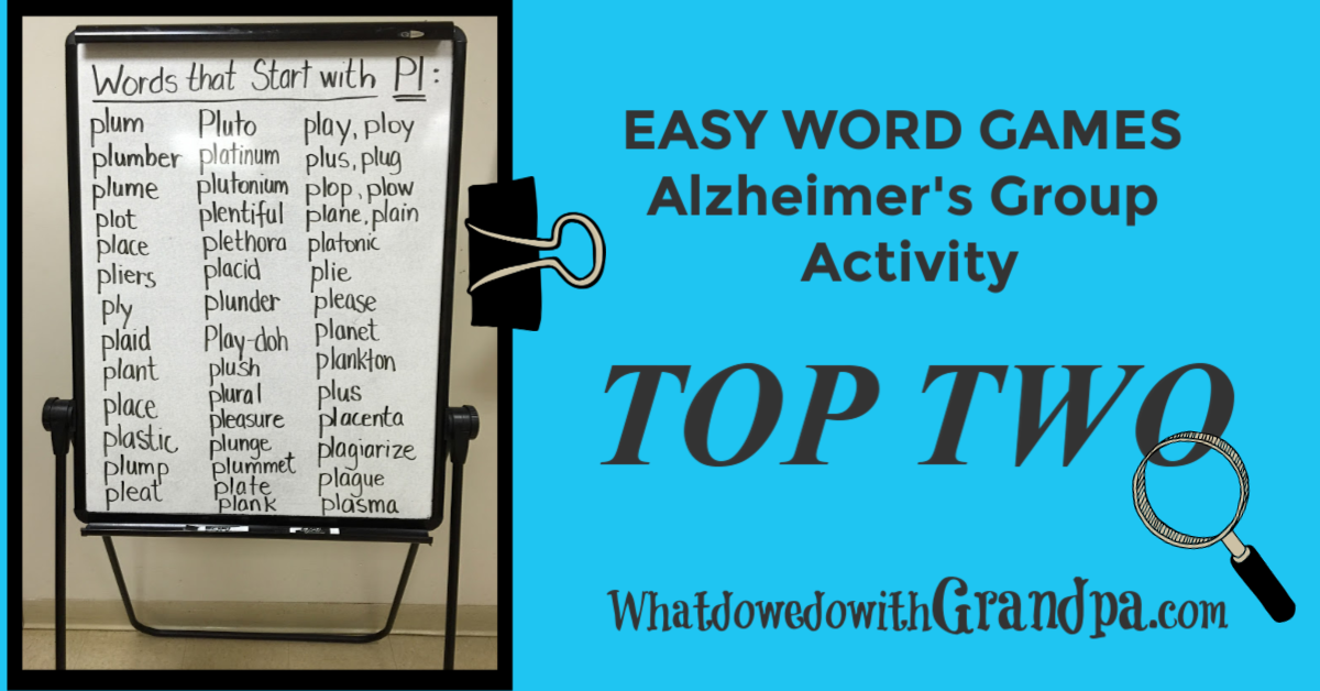Best Word Games: Alzheimer's Group Activity